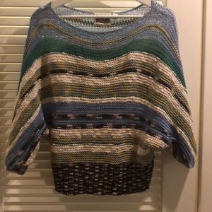 Anthropologie cropped knitted sweater